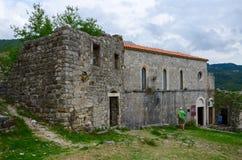 Kyrka av St Veneranda (XIV århundradet), gammal stång, Montenegro Royaltyfri Fotografi