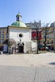 Kyrka av St. Wojciech i Krakow Royaltyfria Bilder