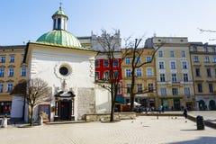 Kyrka av St. Wojciech, Krakow Fotografering för Bildbyråer