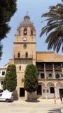 Kyrka av Sta Maria laBorgmästare-stad av Ronda-Malaga-SPANIEN Arkivfoton