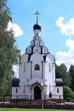 Kyrka av symbolen av modern av guden som förgås i Minsk royaltyfria bilder