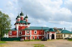 Kyrka av symbolsmodern av guden Smolenskaya, Epiphanykloster, Ug Arkivfoton