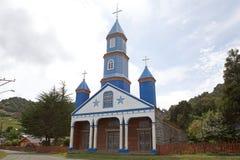 Kyrka av Tenaun, Chiloe ö, Chile arkivbild