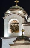 Kyrka av tornet för helgonSava klocka Royaltyfri Foto