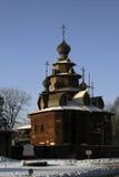 kyrka av trärussia Arkivfoto