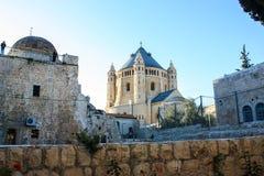 Kyrka av tysk - talande munkar på Mount Zion, Hagia Maria Zion arkivbild