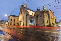 Kyrka av umgänget av den välsignade oskulden Mary i Krakow royaltyfria foton