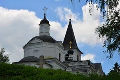 Kyrka av uppståndelsen i Tarusa, Kaluga region, Ryssland Arkivbilder