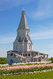 Kyrka av uppstigningen i Kolomenskoye, Moskva, Ryssland Royaltyfri Bild