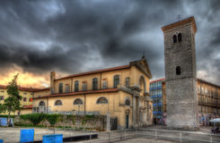 Kyrka av Uznesenja BlaÅ ¾ ene Djevice Marije i Rijeka Arkivbilder