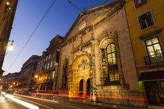 Kyrka av vår dam av befruktningen i Lissabon Royaltyfri Foto