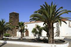 Kyrka av vår dam av Candelaria i La Oliva, Fuerteventura Royaltyfria Bilder
