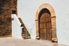 Kyrka av vår dam av Candelaria i La Oliva, Fuerteventura Arkivfoto