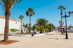 Kyrka av vår dam av Candelaria i La Oliva, Fuerteventura Arkivfoton
