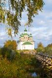 Kyrka av vår dam av Smolensk, Olonets, Karelia Arkivfoton