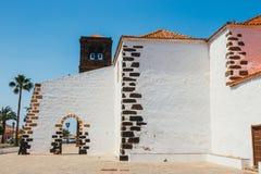 Kyrka av vår dam av Candelaria i La Oliva, Fuerteventura Arkivbilder