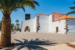 Kyrka av vår dam av Candelaria i La Oliva, Fuerteventura Arkivbild