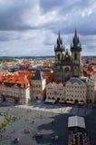 Kyrka av vår dam framme av Tyn, Prague, tjeck Royaltyfri Foto