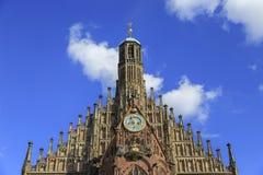 Kyrka av vår dam (Frauenkirche) i Nuremberg, Germny Royaltyfri Fotografi