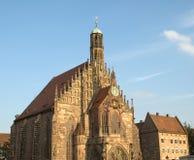Kyrka av vår dam i den Nuremberg Tyskland Royaltyfri Foto
