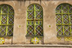 Kyrka av vår dam Mary av Zion, det mest sakrala stället för alla ortodoxa etiopier Aksum Etiopien Arkivbild