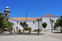 Kyrka av vår Lady av Antigua i Fuerteventura Arkivbild