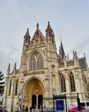 Kyrka av vår välsignade dam av Sablonen i Bryssel, Belgien Arkivbilder