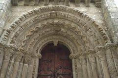 Kyrka av Villar de Donas, Palas de Rey, Lugo, Galicia, Spanien Fotografering för Bildbyråer