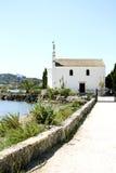 Kyrka av Ypapanti, Gouvia, Korfu, Grekland Royaltyfria Bilder