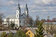 Kyrka av Zemaiciu Kalvarija royaltyfria foton