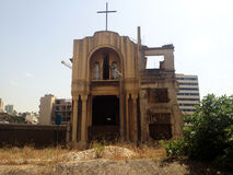 Kyrka Beirut, Libanon Arkivbild