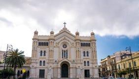 Kyrka Cattedrale Maria Assunta, Reggio Di Calabria som är sydligt det arkivbilder