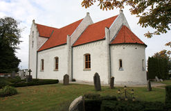 Kyrka di gamla di Maglarps, Trelleborg, Svezia Fotografie Stock