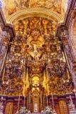 Kyrka El Salvador Seville Andalusia Spain för basilikaaltarestycke Arkivbild