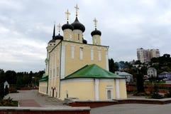 Kyrka för antagande (Amiralitetet) den äldsta bevarade kyrkan av Voronezh Fullt namn av den kyrkliga Dormitionen av Theotokosen o Royaltyfri Foto