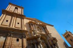 Kyrka för Elche Elx basilikade Santa Maria i Alicante Spanien Royaltyfria Foton