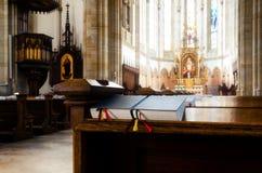 Kyrka för helgonElisabet församling i Wien fotografering för bildbyråer