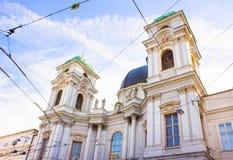 Kyrka för helig Treenighet i Salzburg, Österrike royaltyfri foto