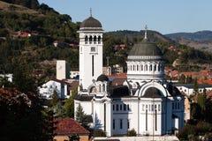 Kyrka för helig Treenighet i Sighisoara i Rumänien fotografering för bildbyråer