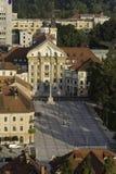 Kyrka för helig trinity i Ljubljana Royaltyfri Fotografi