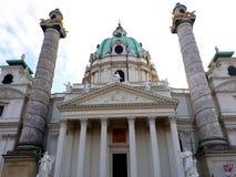 Kyrka för Karlskirche eller St Charles ` s arkivbild