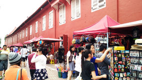 Kyrka för Kristus för hus för turistbesök röd i Malacca Royaltyfri Bild