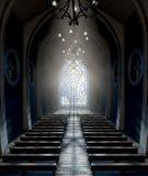 Kyrka för målat glassfönster royaltyfria foton