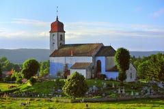 Kyrka för Monnet laville, Jura, Frankrike arkivfoto