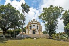 Kyrka för Nossa Senhora DOS Remedios på Vila DOS Remedios - Fernando de Noronha, Pernambuco, Brasilien royaltyfri foto
