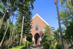 Kyrka för nypremiär för Xiamen kristen gulangyuholme arkivbild