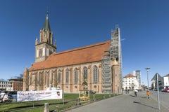 Kyrka för ` s för St Maria i Neubrandenburg, Tyskland Fotografering för Bildbyråer