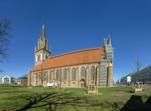 Kyrka för ` s för St Maria i Neubrandenburg, Tyskland Arkivbilder