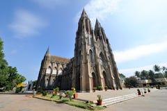 Kyrka för ` s för St Philomena i Mysore, Indien Arkivfoto