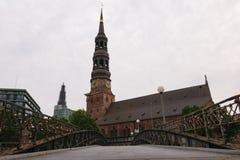 Kyrka för ` s för St Catherine, Hamburg, Tyskland Royaltyfri Foto